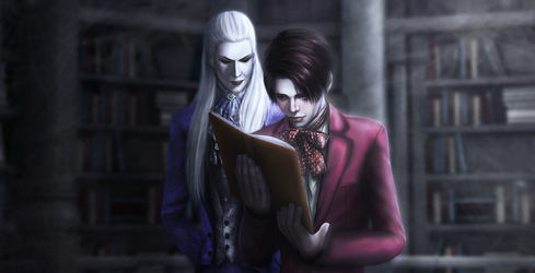 Tanz der Vampire. Herbert and Alfred. by bloodyscarletdeath