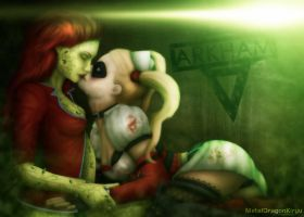 Harley and Ivy - Arkham Kiss by OrbitalWings