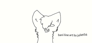 evil bani line art by NeonCandyLights