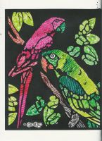 Parrots - Red and Green by DrearyIdiot