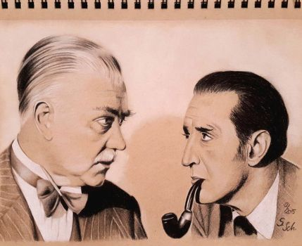 Holmes and Watson by Sabine-S-Art