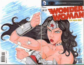 Wonder Woman Sketch Cover by JazzRy