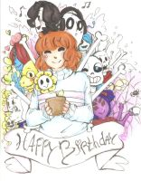 Undertale - B-day gift by akkame