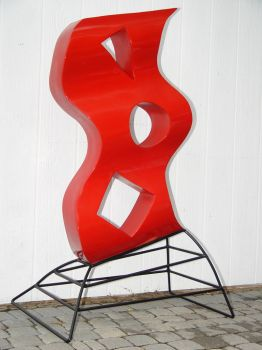 Freestanding Red by GreatLakesMetalWorks