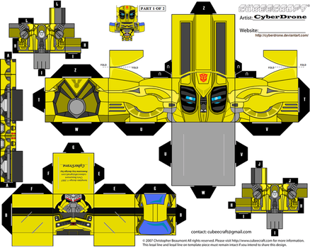 Cubee - Bumblebee 2 'Movie' by CyberDrone