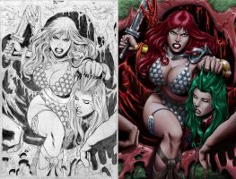 Red Sonja 44 pag 14 by wgpencil