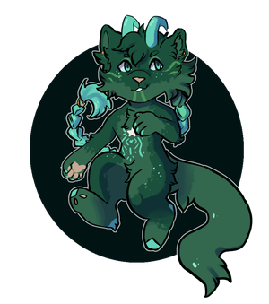 Art Trade - Green boi by FrostedWatercolor