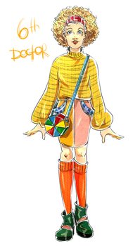 DW Fashion: The 6th Doctor #3 by Miss-Alex-Aphey
