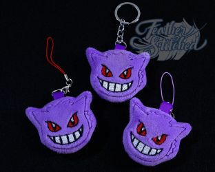 Gengar Soft Charms by FeatherStitched