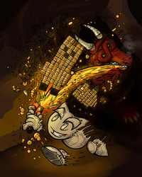Stealing gold from the drAgon's hoard by Volraknil