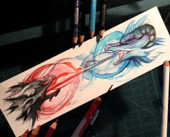 74- Dueling Dragons Bookmark by Lucky978