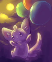 Minccino with Balloons