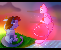 First time seeing mew by BaconBloodFire