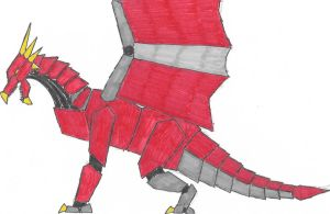 The Red Dragon Zord by Chiquplane12