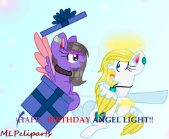 ~happy Birthdat Angel light!~{birthday Gift} by TheClipArtist