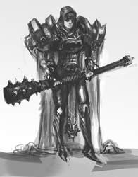 Knight Sketch by Erebus88