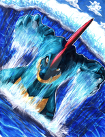 Feraligatr used Surf