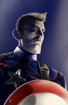 Chris Evans caricature by halwilliams