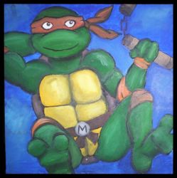 Michaelangelo: Party Dude. by samexmistake
