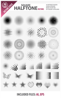 Square Halftone Vectors by rjDezigns