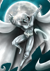 Moon Knight roughs by blood083