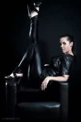 Black Leather Throne 1 by SarmaiBalazs