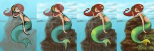 mermaid progress by hannsaki