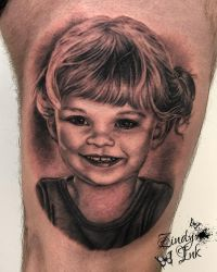 Little Girl Tattoo by Zindy