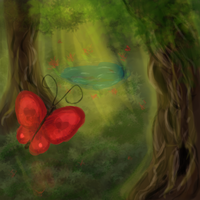 Forest Butterfly by zara-leventhal