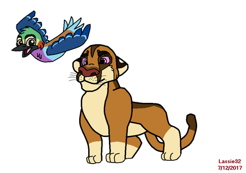 Sukala and Msanii (the lion guard art style) by lassie32