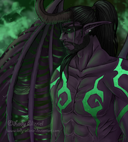 Illidari: WoW Fanart by Lady-Elizriel