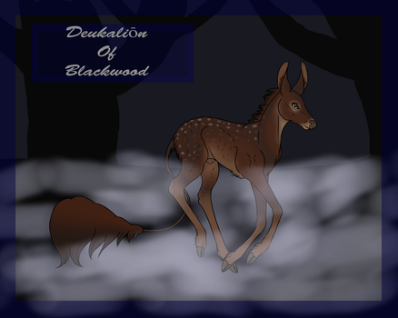 Deukalion|Blackwood|Herd Fawn by ElunaTalnae