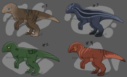 Baby raptor adopts batch01 by InterfectorFactory