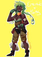 RWBY Fusions: Emerald/Yang by Sogequeen2550