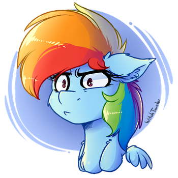 Rainbow Stare by WitchTaunter