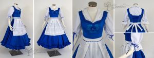 Town Provencial Belle Blue Dress Cosplay Dress by glimmerwood