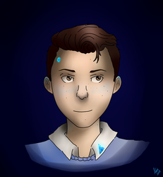 Connor DBH [blue] by BackFromHell666