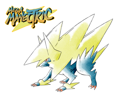 Mega Manectric (Old Sugimori Style) by CadmiumRED