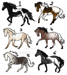 20 point horse adopts [3/6] -OPEN- Batch 11 by TheAdoptArtist
