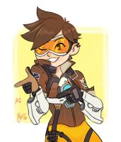 Tracer A2 .Overwatch by sexyfairy