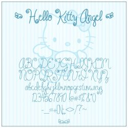 Hello Kitty Angel Font by SewDesuNe
