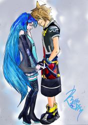 Sora and Hatsune Miku Couple II. by sineddine