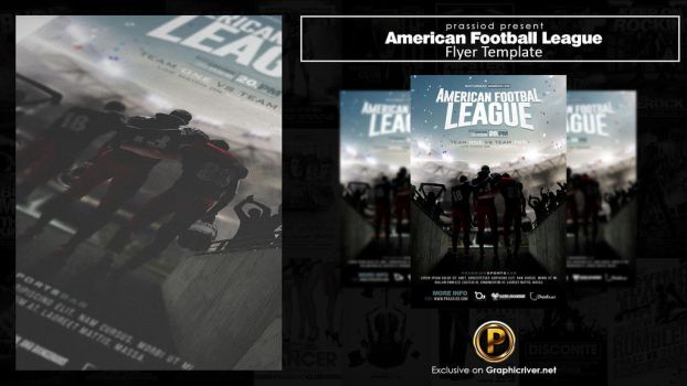 American Football League Flyer Template by prassetyo