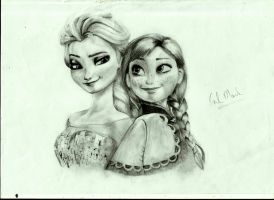 Elsa and Anna by Carl-Mark