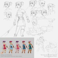 Character design tutorial sketch by XiaTaptara