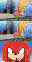 Patrick asking Knuckles to be his new best friend by Wildcat1999