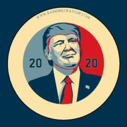 Trump 2020 Posterized button by Conservatoons