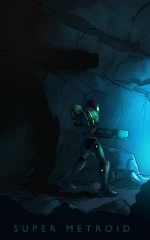 Super Metroid by Phobos-Romulus