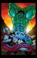 Hulk vs Thor by BDStevens