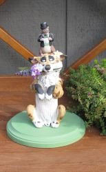 Thornwolf and Skorzy Cake Topper by WickedSairah